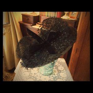 40's Black Lace Hat